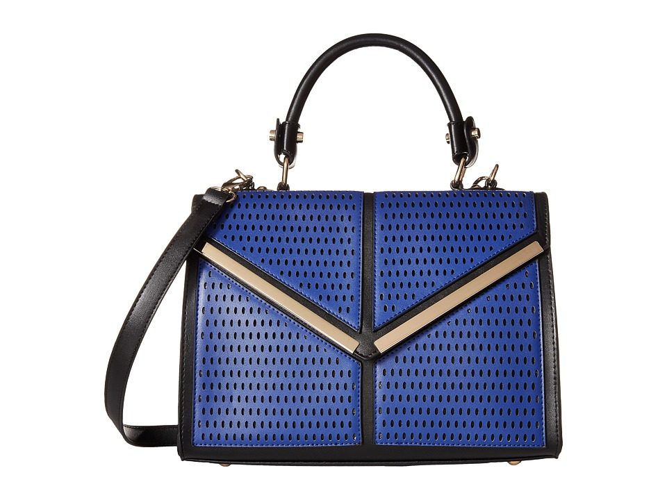 Gabriella Rocha - Teagan Perforated Satchel (Black/Navy) Satchel Handbags