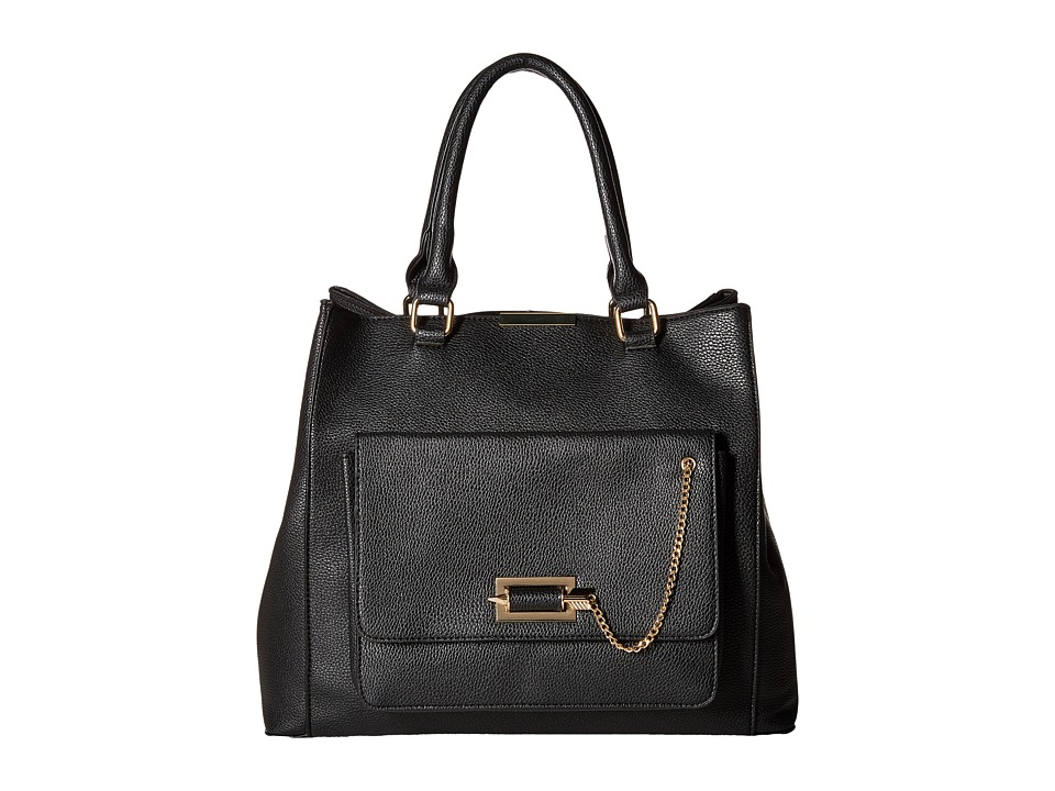 Gabriella Rocha - Trista Satchel with Front Pocket (Black) Satchel Handbags