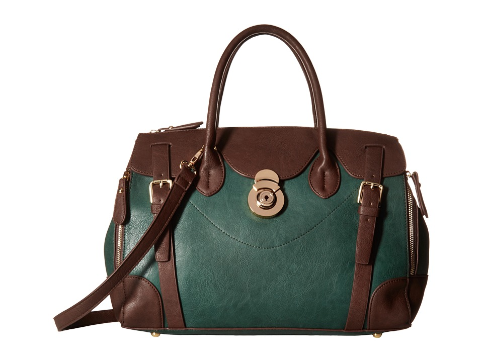 Gabriella Rocha - Saige Satchel with Belts (Hunter Green/Brown) Satchel Handbags