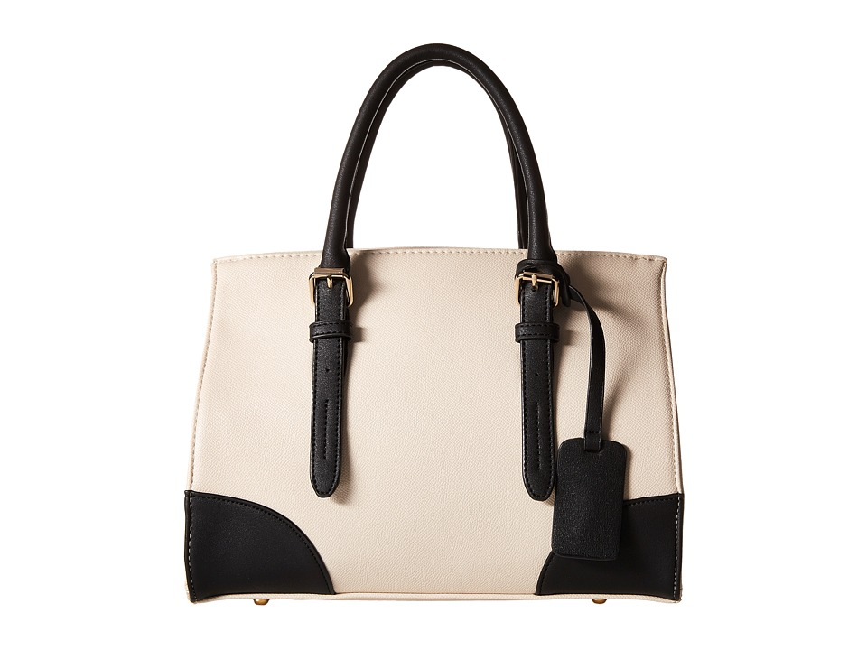 Gabriella Rocha - Tinley Two-Tone Satchel (Beige/Black) Satchel Handbags