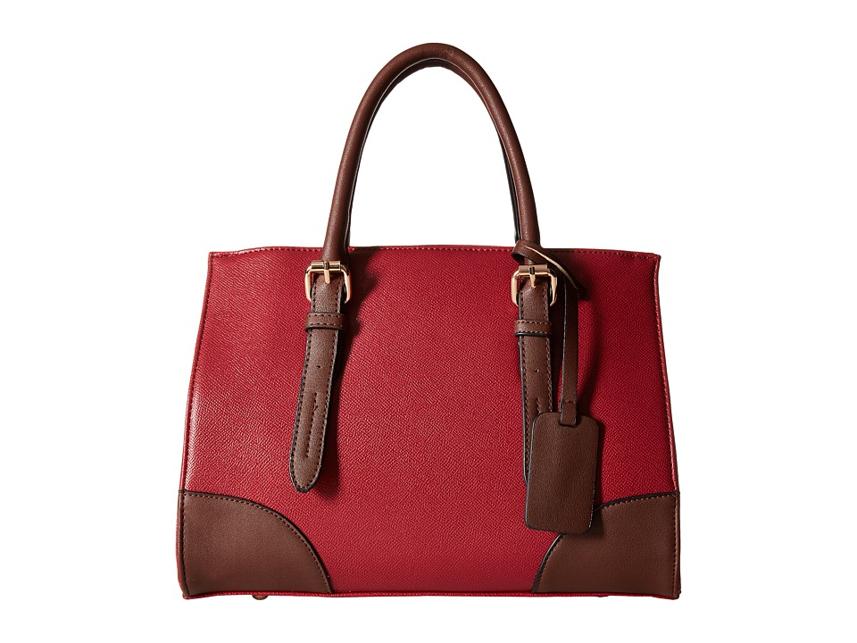 Gabriella Rocha - Tinley Two-Tone Satchel (Wine/Brown) Satchel Handbags