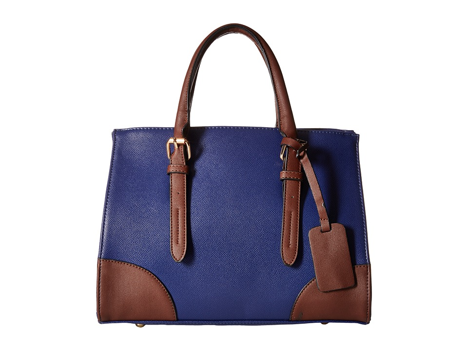 Gabriella Rocha - Tinley Two-Tone Satchel (Blue/Brown) Satchel Handbags