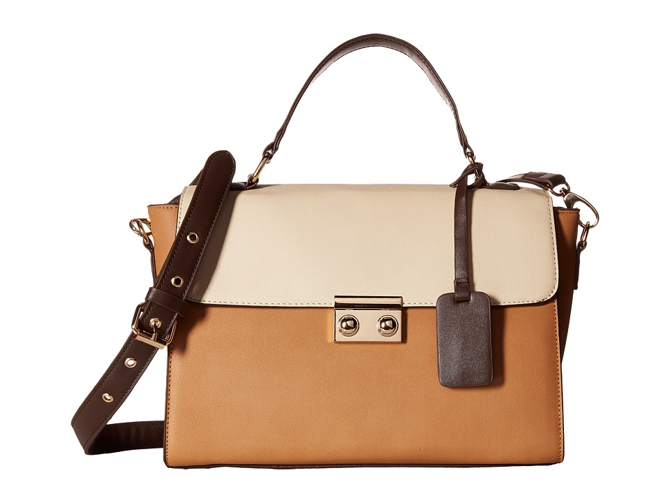 Gabriella Rocha - Taraji Two-Tone Satchel (Camel/Bone) Satchel Handbags