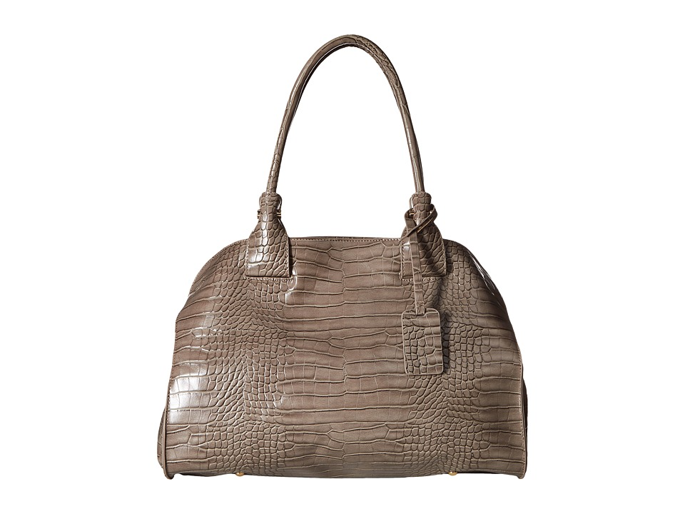 Gabriella Rocha - Aliyah Satchel with Crocodile Detail (Grey) Satchel Handbags
