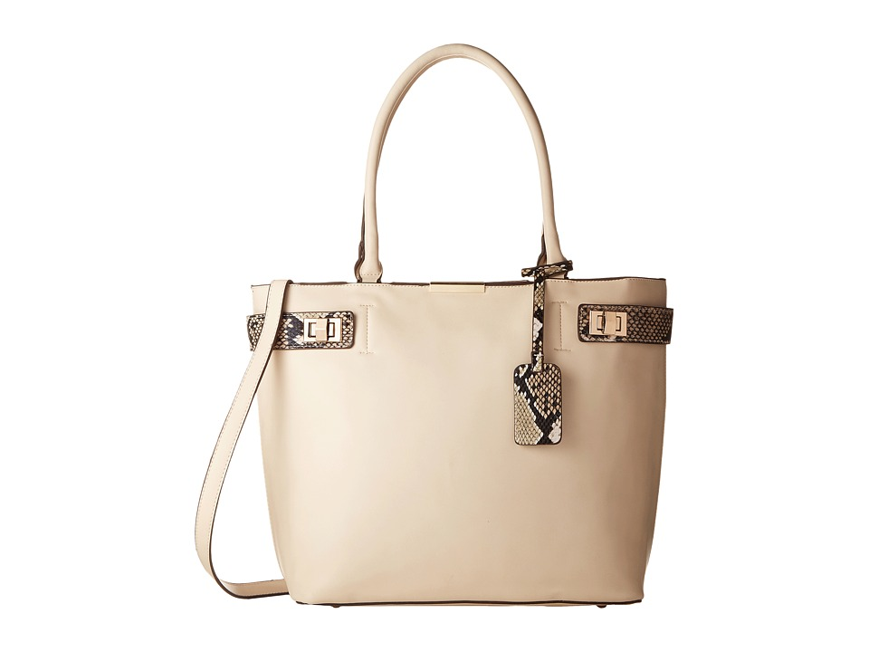 Gabriella Rocha - Tabitha Satchel with Snake Detail (Beige) Satchel Handbags