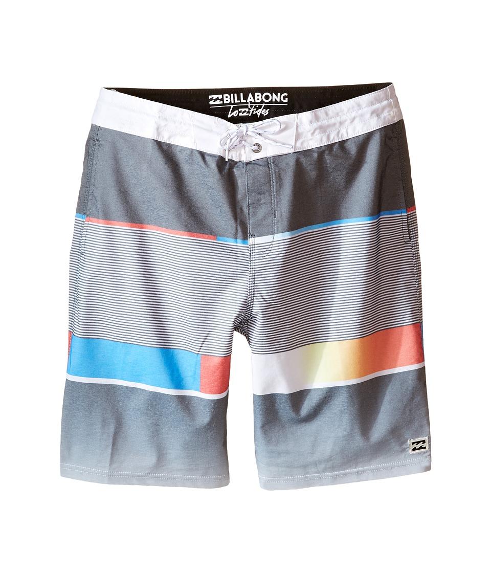 Billabong Kids - Spinner Lo Tides Boardshorts (Big Kids) (Black) Boy's Swimwear
