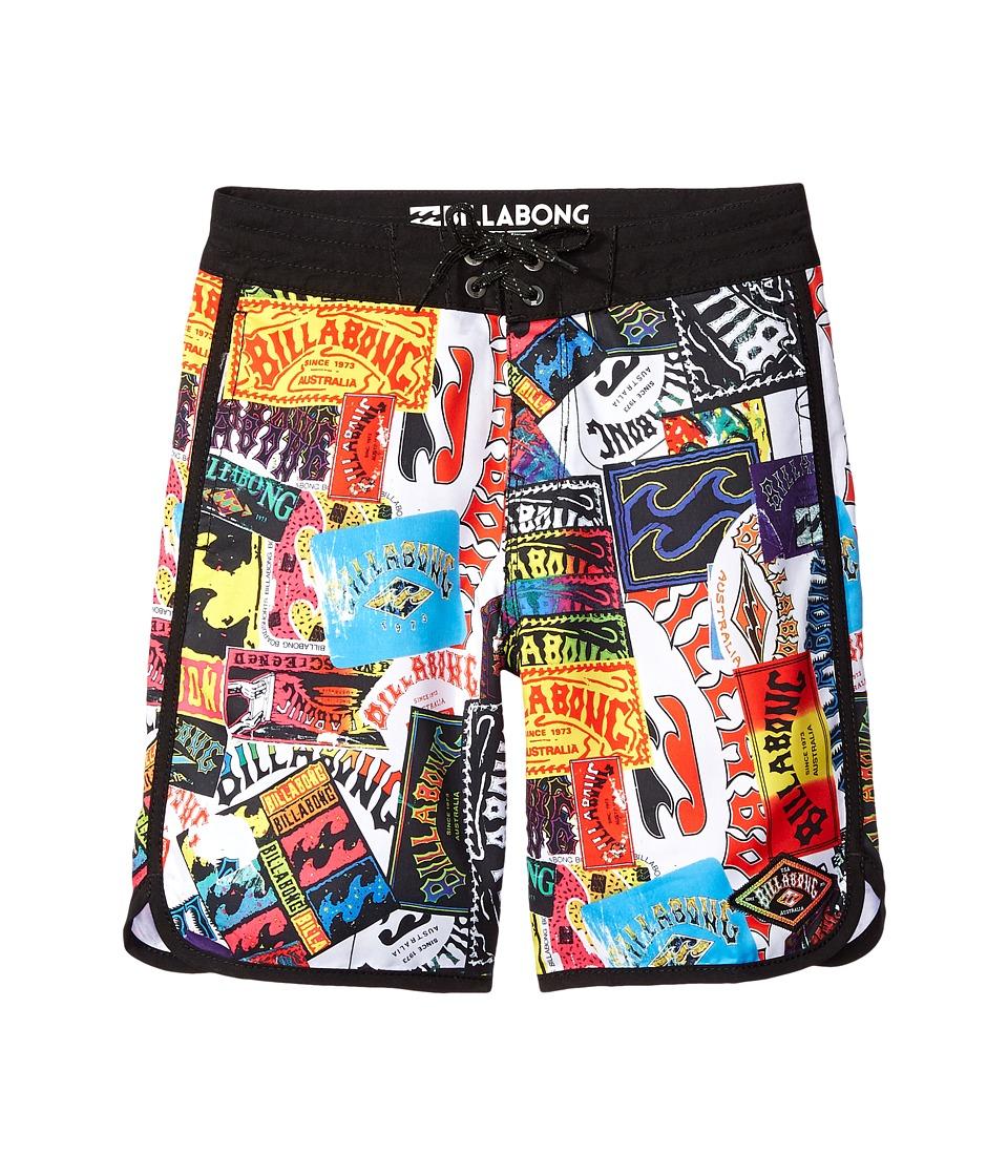 Billabong Kids - Scallop Lo Tides Boardshorts (Big Kids) (Black) Boy's Swimwear
