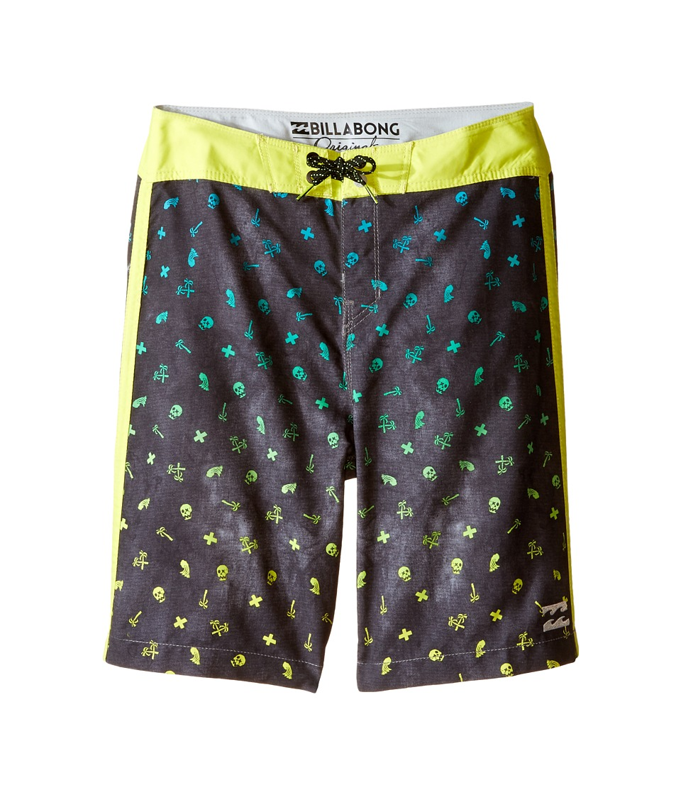 Billabong Kids - Peaky Billys Boardshorts (Big Kids) (Black) Boy's Swimwear