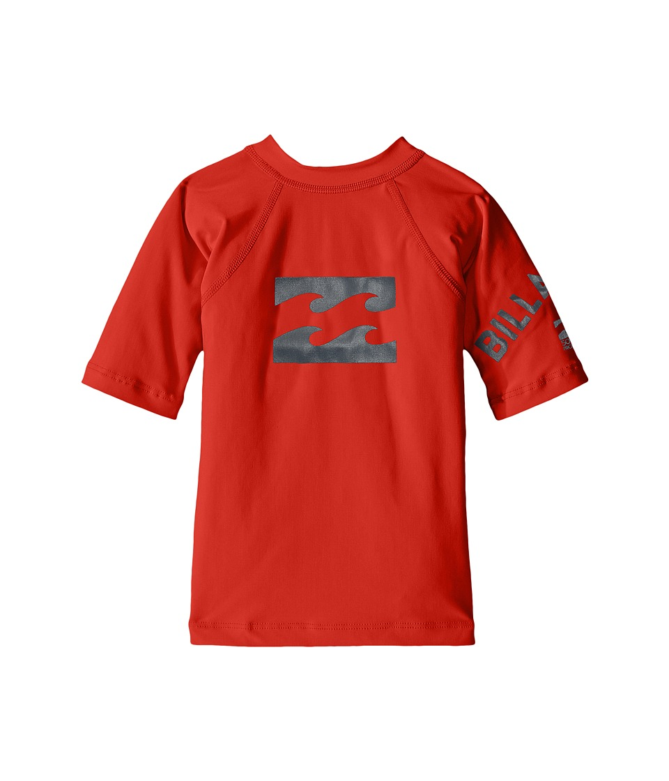 Billabong Kids - Team Wave Short Sleeve Rashguard (Toddler/Little Kids/Big Kids) (Red) Boy's Swimwear