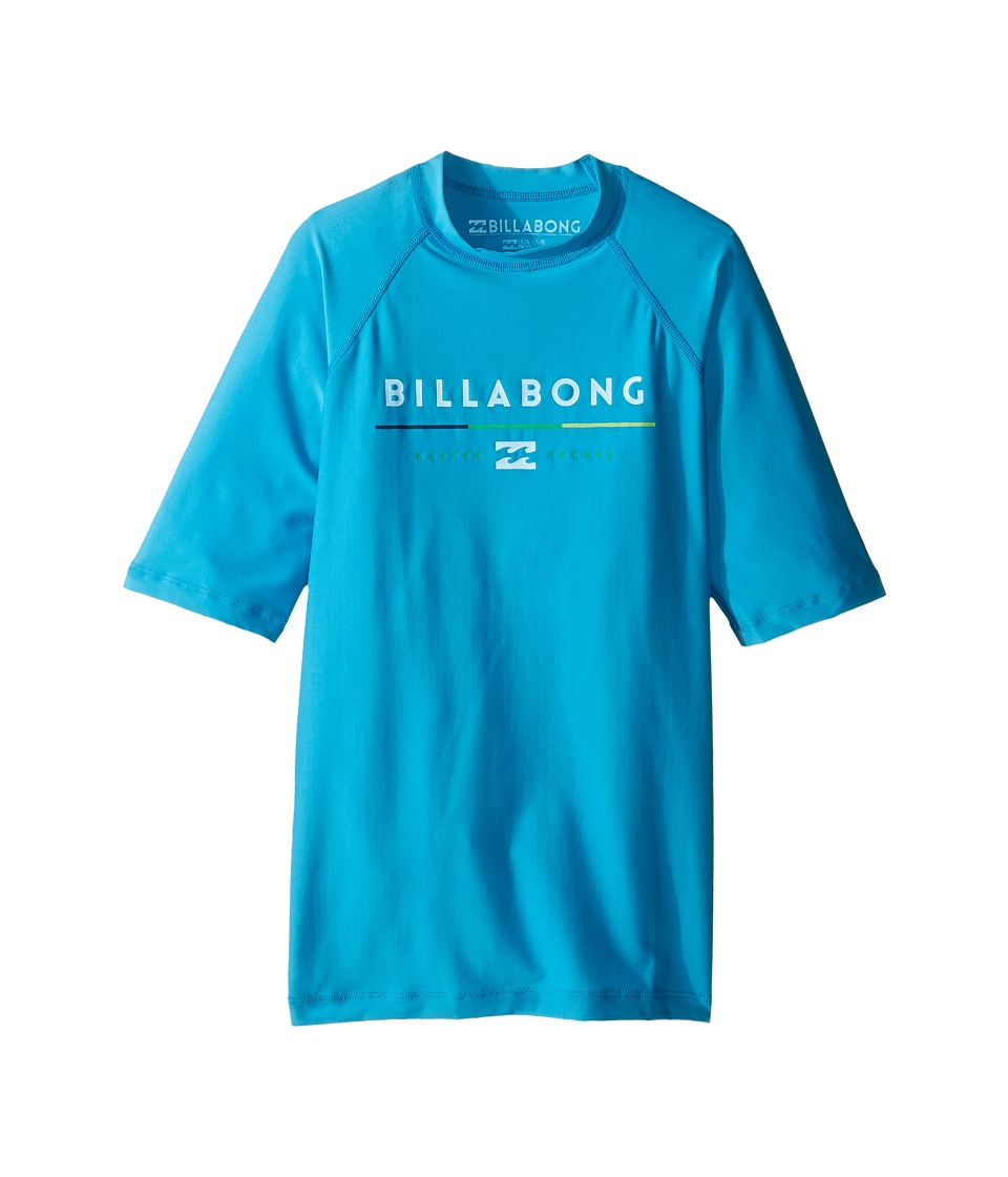Billabong Kids - All Day Short Sleeve Rashguard (Toddler/Little Kids/Big Kids) (New Blue) Boy's Swimwear