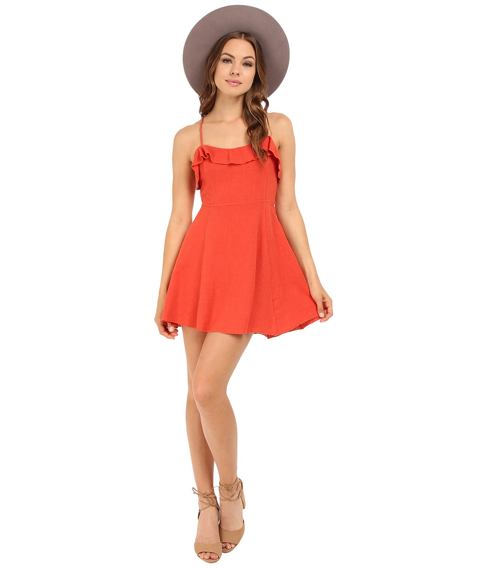 Free People - More Than a Mini Dress (Coral) Women's Dress