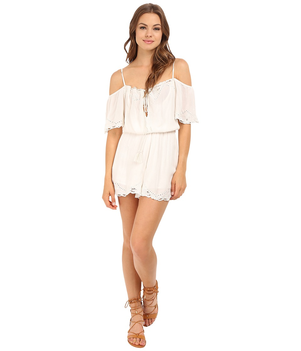Free People - White Romance Romper (Ivory) Women's Jumpsuit & Rompers One Piece