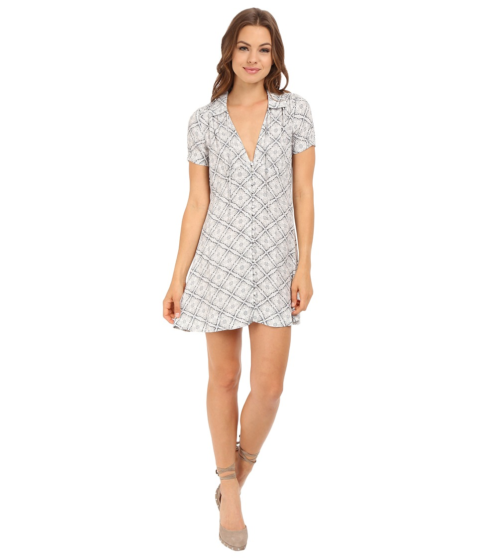 Free People - Melody Printed Dress (Neutral Combo) Women's Dress