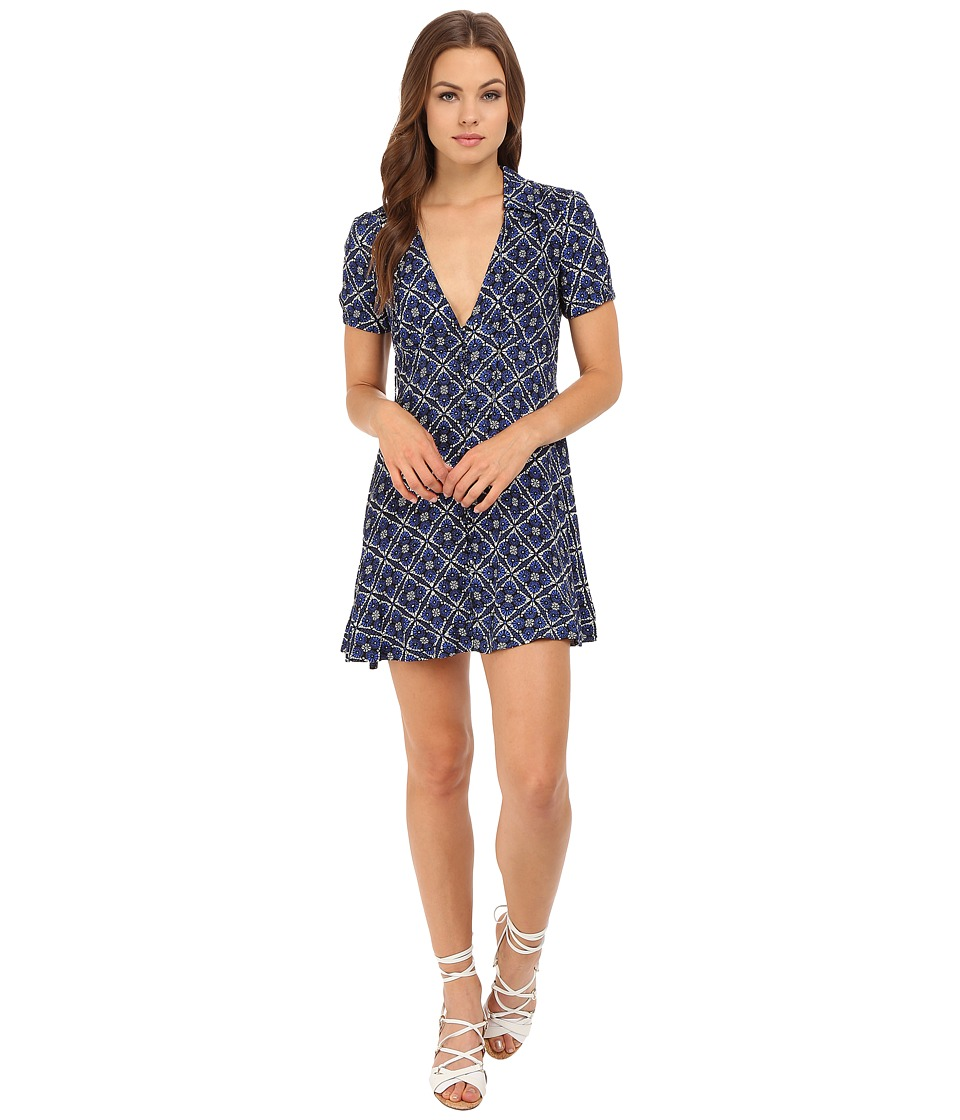 Free People - Melody Printed Dress (Black Combo) Women's Dress