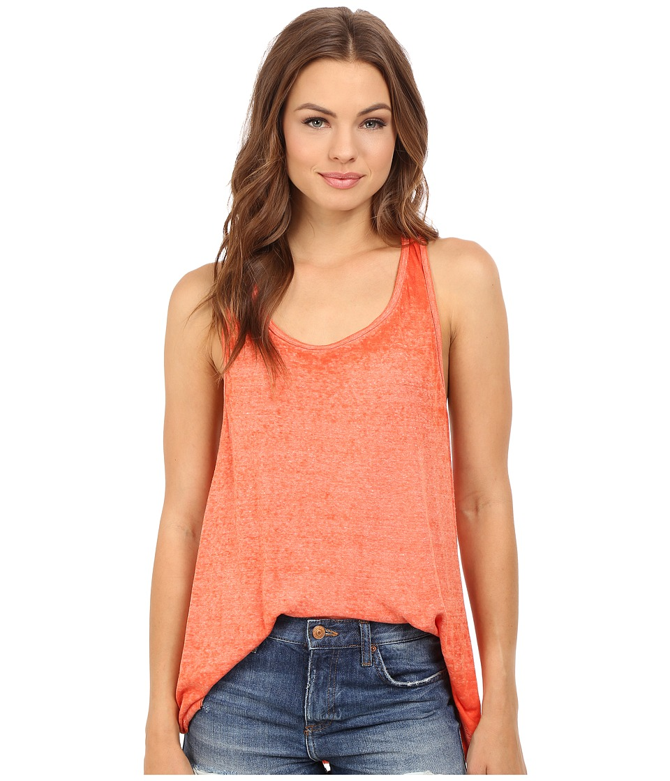 Free People - Break of Dawn Solid Top (Coral) Women's Clothing