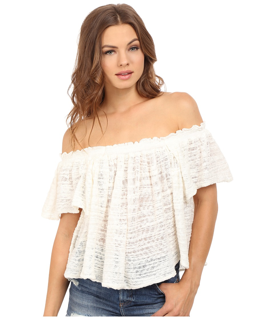 Free People - Thrills and Frills Sweater (Ivory) Women's Sweater