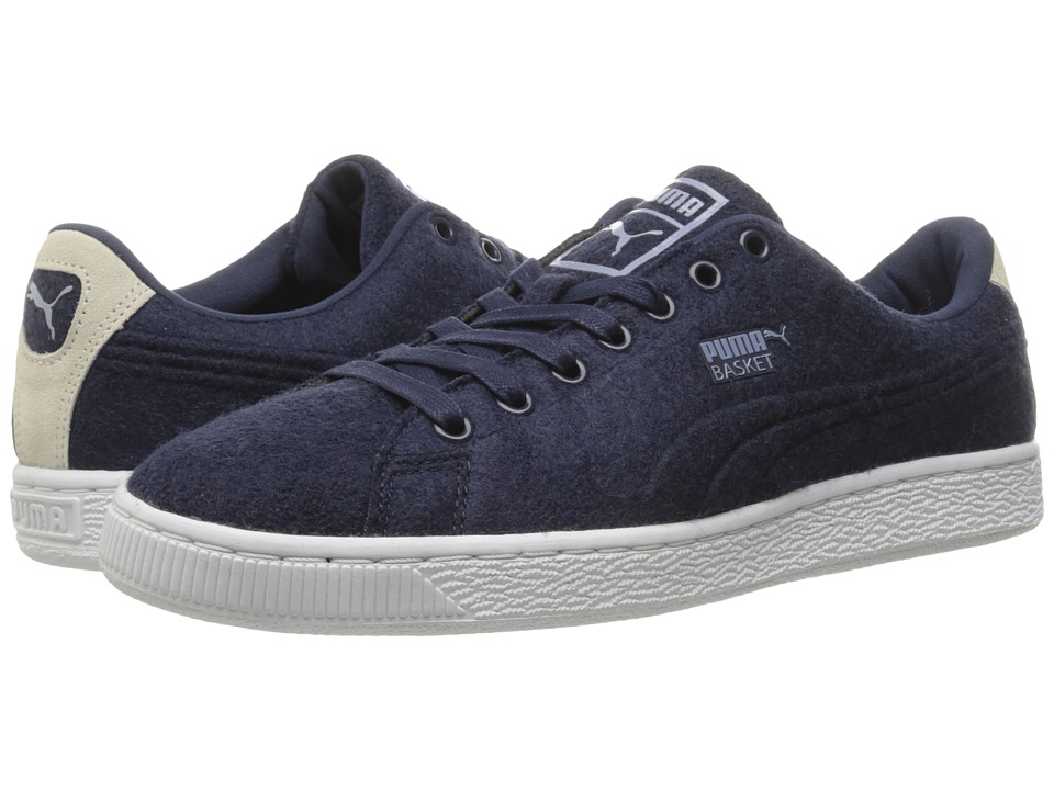 PUMA - Basket Classic Embossed Wool (Peacoat/Tempest) Men's Shoes
