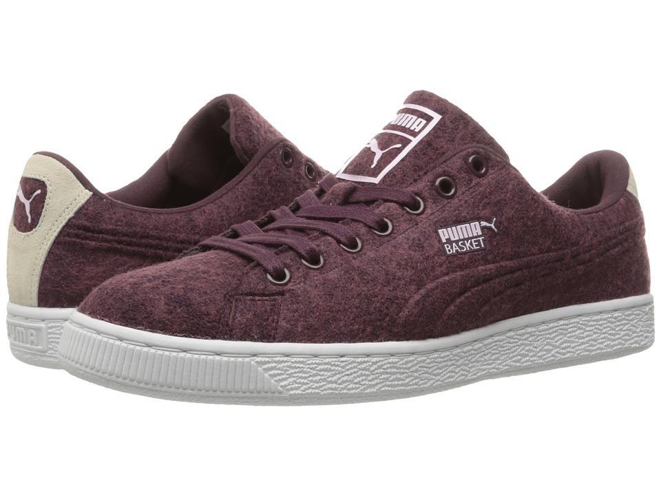 PUMA - Basket Classic Embossed Wool (Wine Tasting/Lilac Snow) Men's Shoes
