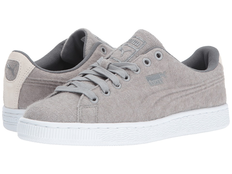 PUMA - Basket Classic Embossed Wool (Drizzle/Steel Gray) Men's Shoes