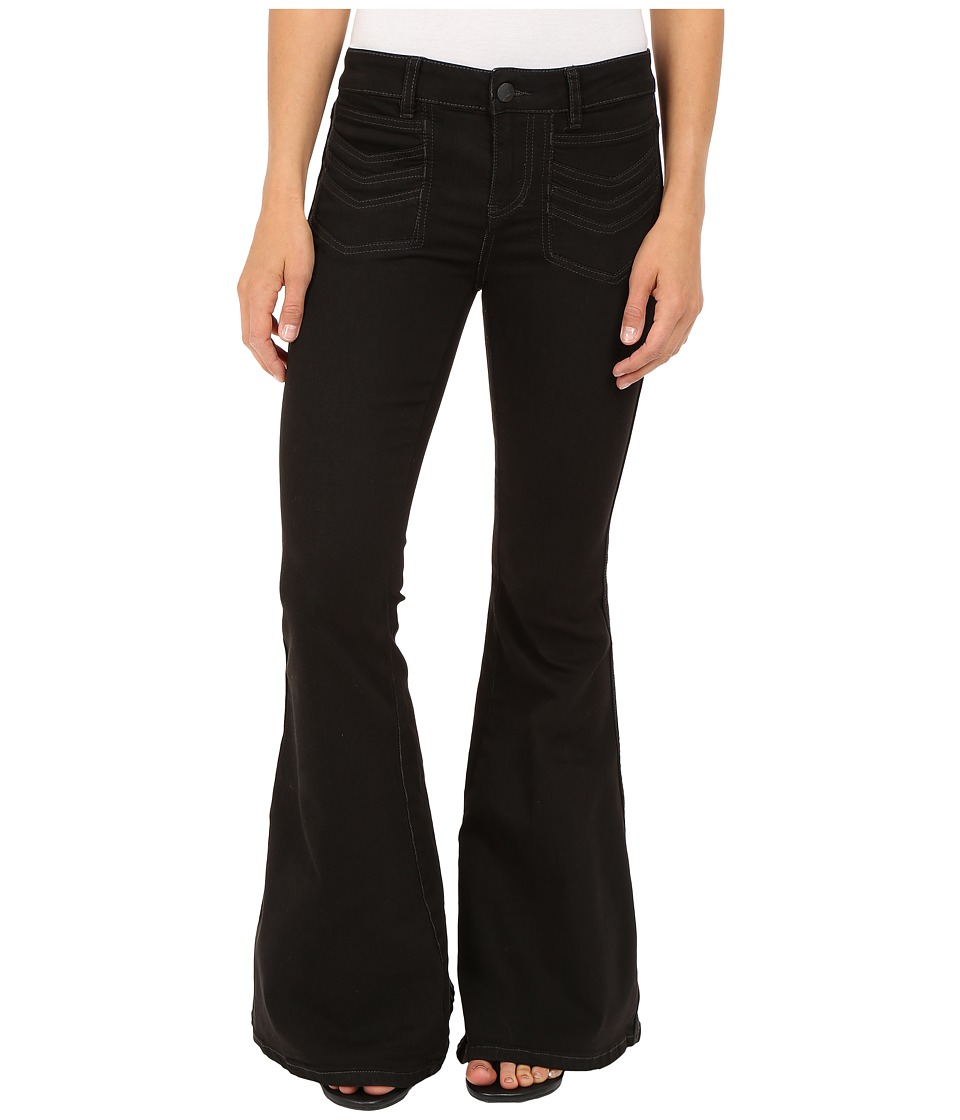 Free People - Stella High Rise Flare Jeans in Black (Black) Women's Jeans