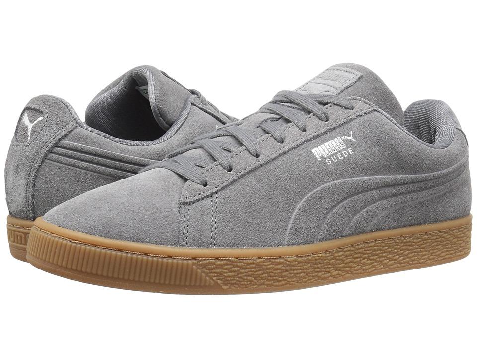 PUMA - Suede Classic Debossed Q4 (Steel Gray/Peacoat) Men's Shoes