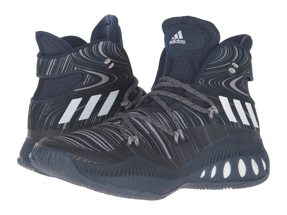 adidas - Crazy Explosive (Collegiate Navy/White/Night Navy) Men's Basketball Shoes