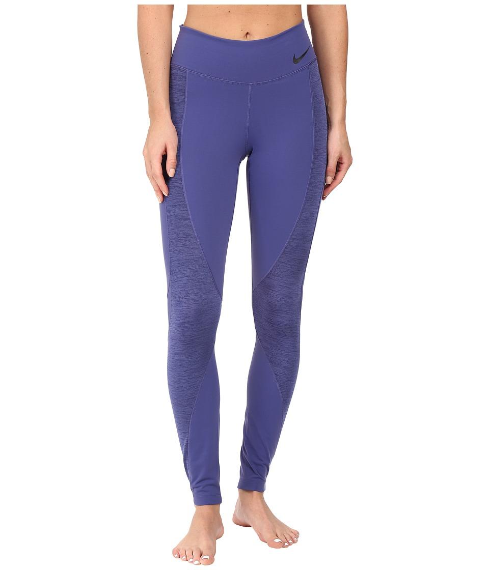 Nike - Power Legendary Mid Rise Training Tight (Dark Purple Dust/Dark Purple Dust/Black) Women's Casual Pants