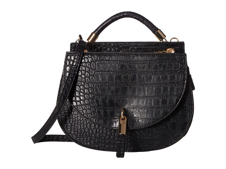 Gabriella Rocha - Saylor Saddle Bag with Tassel (Black) Shoulder Handbags