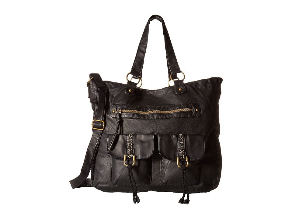 Gabriella Rocha - Shaniya Multi-Pocket Tote (Black) Backpack Bags