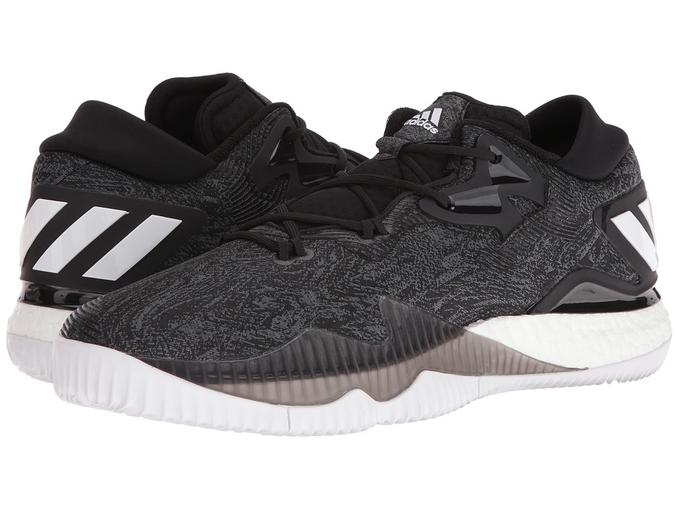 adidas - Crazylight Boost Low (Black/White) Men's Basketball Shoes