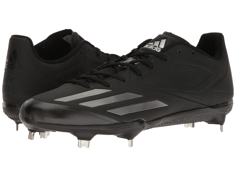 adidas - Adizero Afterburner 3 (Black/Iron Metallic) Men's Cleated Shoes