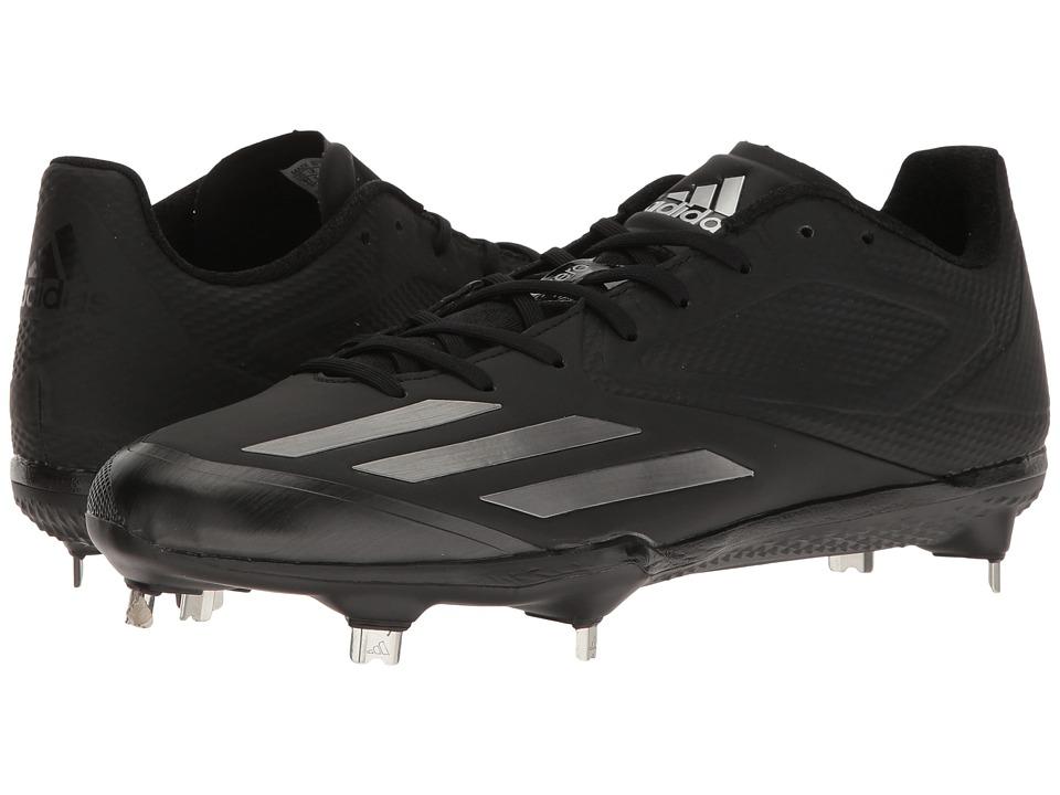 adidas - Adizero Afterburner 3 (Black/Iron Metallic) Men's Cleated Shoes