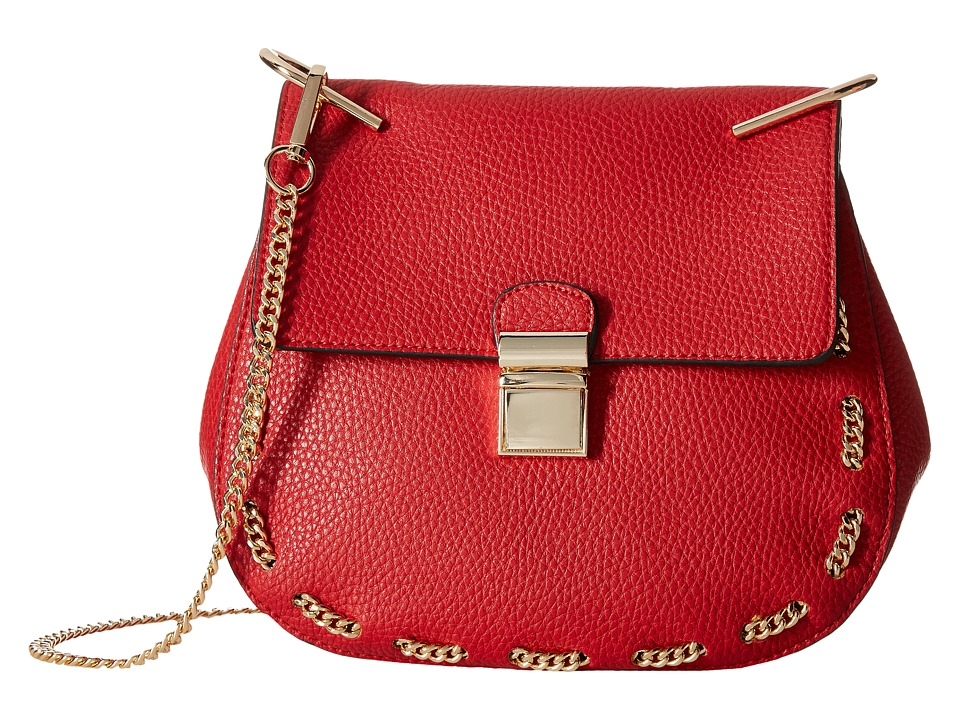 Gabriella Rocha - Saoirse Crossbody with Chain Detail (Red) Cross Body Handbags
