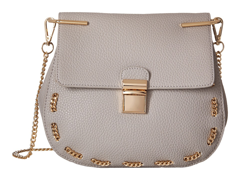 Gabriella Rocha - Saoirse Crossbody with Chain Detail (Grey) Cross Body Handbags