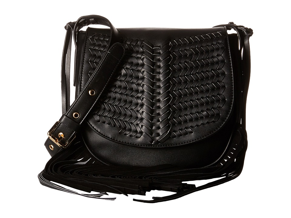 Gabriella Rocha - Sarai Crossbody with Fringe (Black) Cross Body Handbags