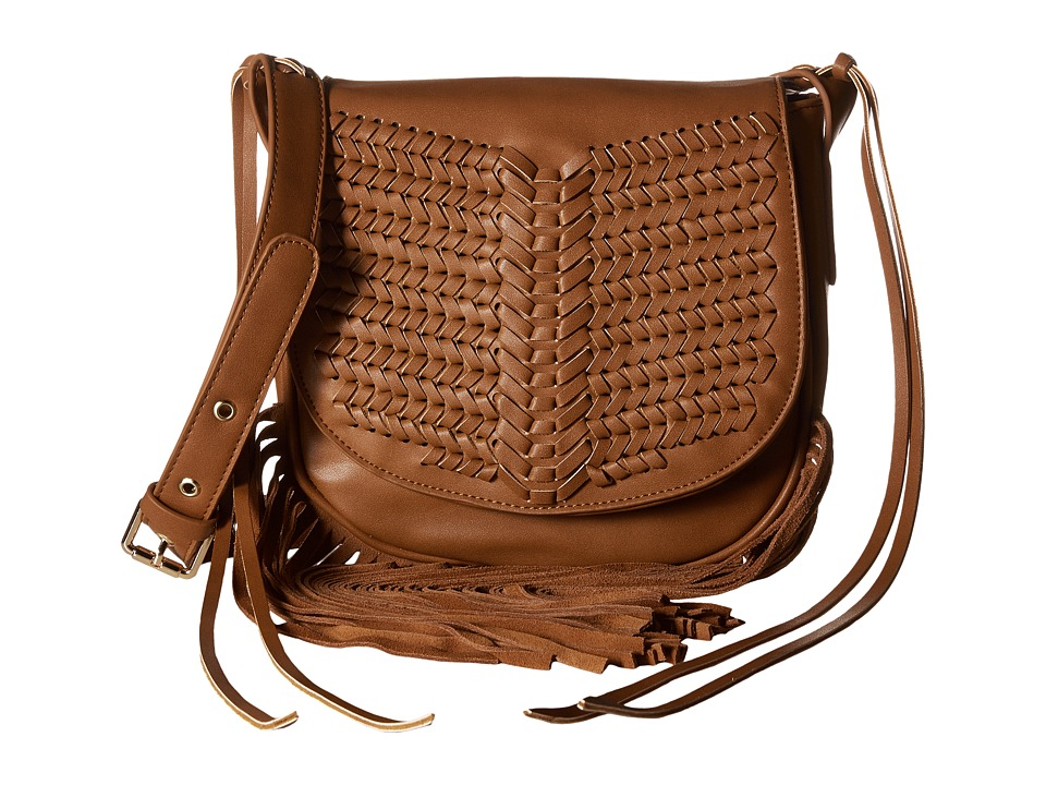 Gabriella Rocha - Sarai Crossbody with Fringe (Cognac) Cross Body Handbags