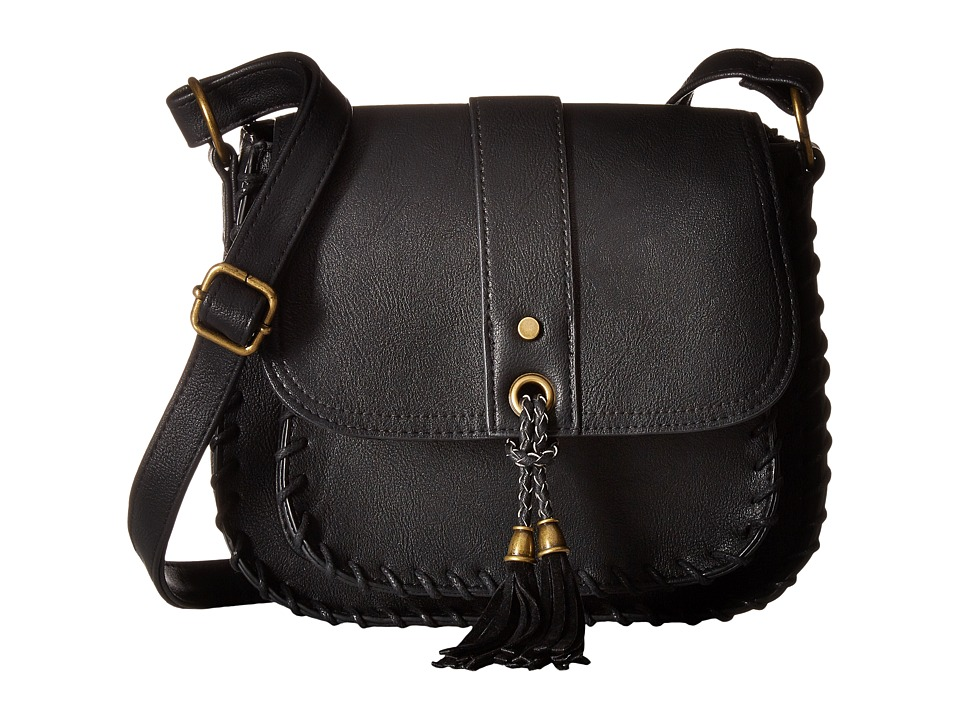 Gabriella Rocha - Shea Whipstitch Crossbody Purse (Black) Cross Body Handbags