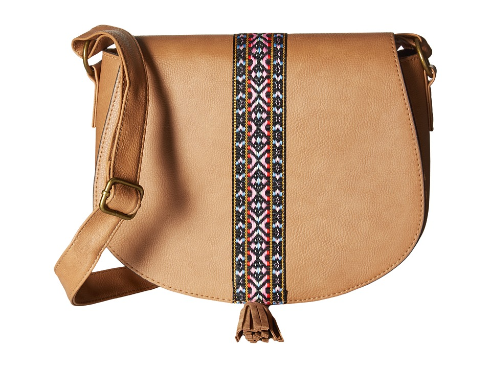 Gabriella Rocha - Shaylee Crossbody Saddle Bag with Tassel (Sable) Cross Body Handbags