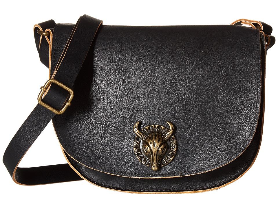 Gabriella Rocha - Rheta Crossbody Purse with Bullhead Detail (Black) Cross Body Handbags