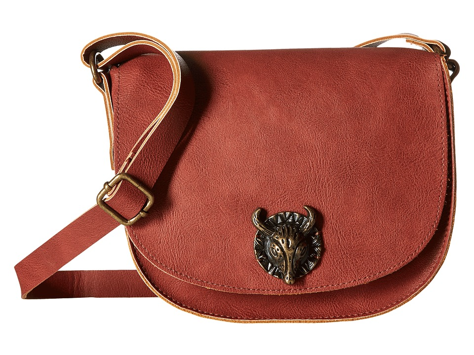 Gabriella Rocha - Rheta Crossbody Purse with Bullhead Detail (Marsala) Cross Body Handbags