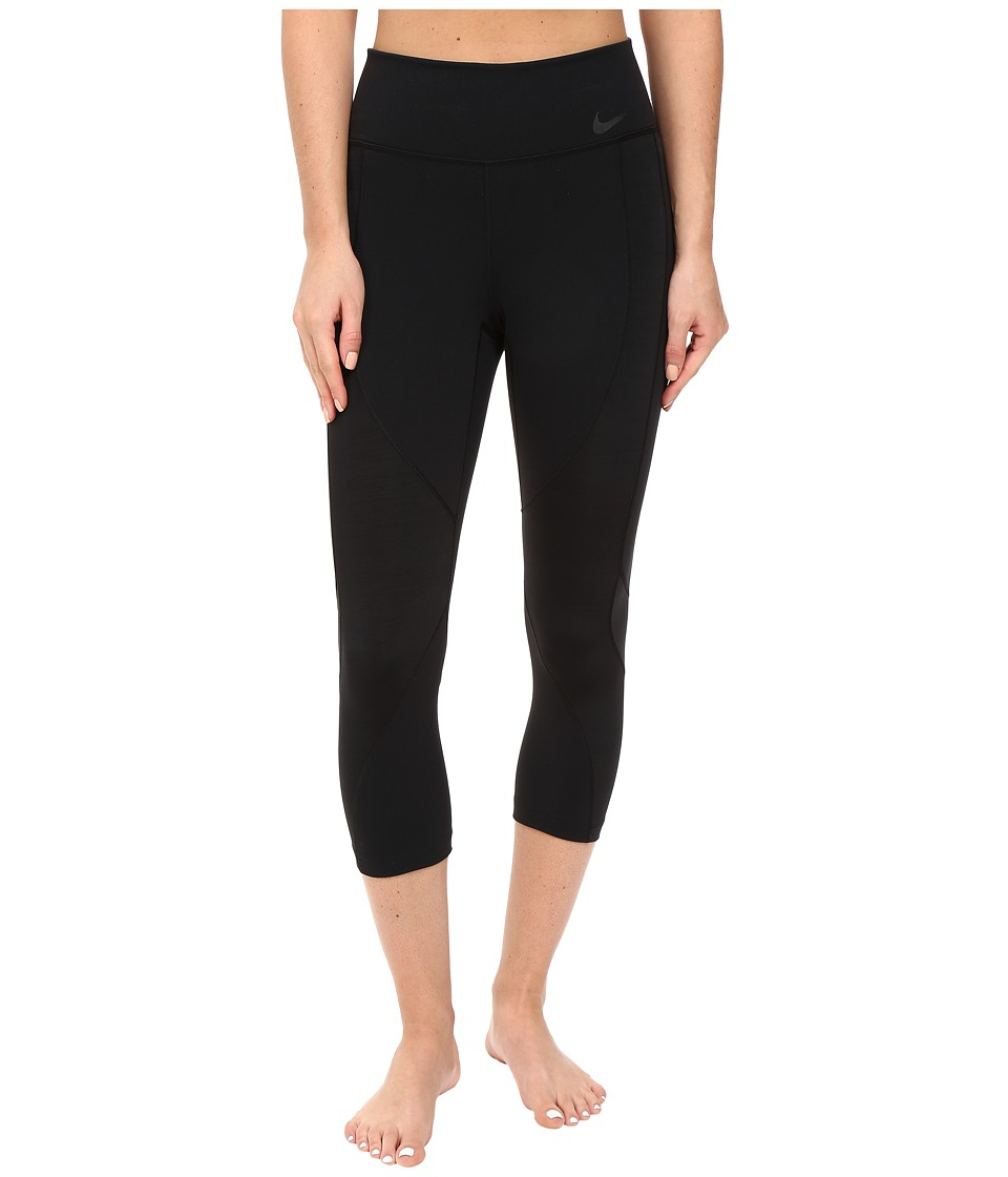 Nike - Power Legendary Training Capri (Black/Black/Black) Women's Capri