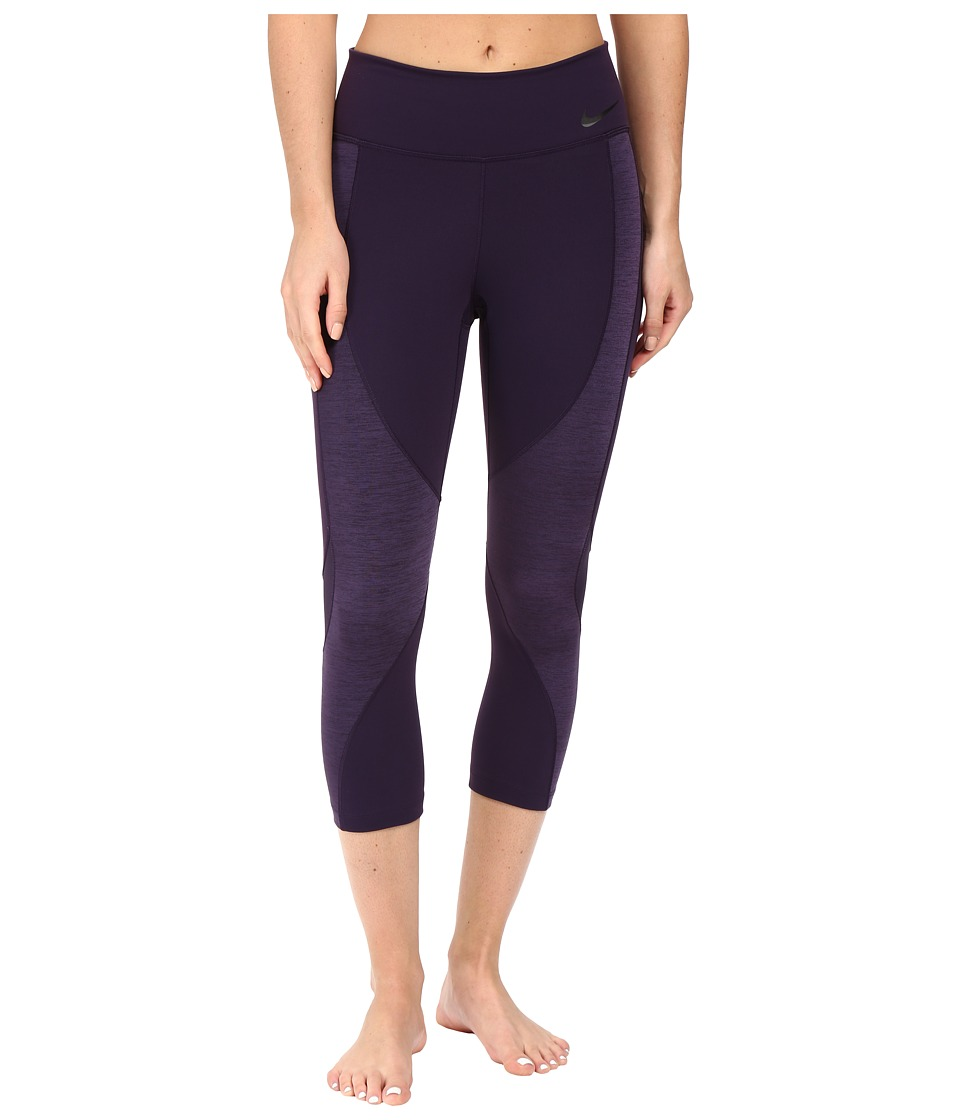 Nike - Power Legendary Training Capri (Purple Dynasty/Purple Dynasty/Black) Women's Capri
