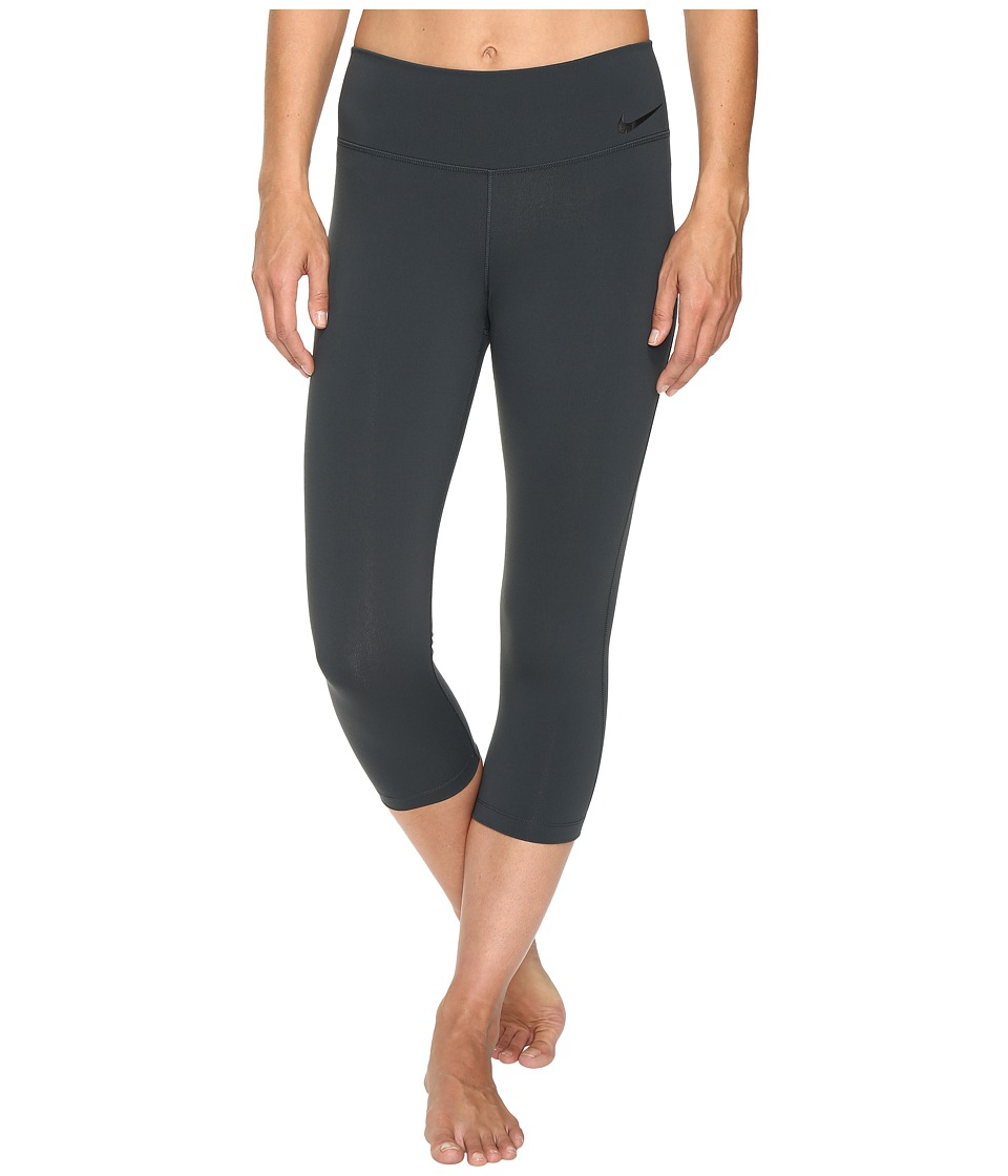 Nike - Power Legendary Mid Rise Training Capri (Seaweed/Black) Women's Capri