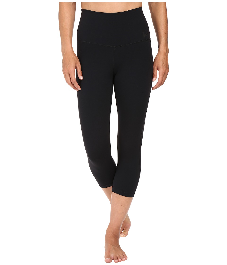 Nike - Power Legendary High Rise Training Capri (Black/Black) Women's Capri