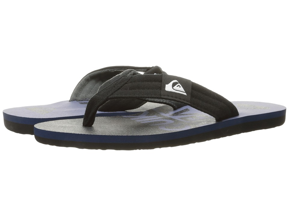 Quiksilver - Molokai Layback (Black/Blue/Grey 2) Men's Sandals