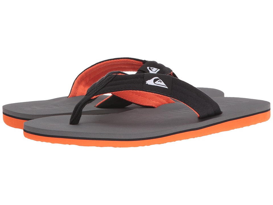 Quiksilver - Molokai Layback (Grey/Grey/Grey) Men's Sandals