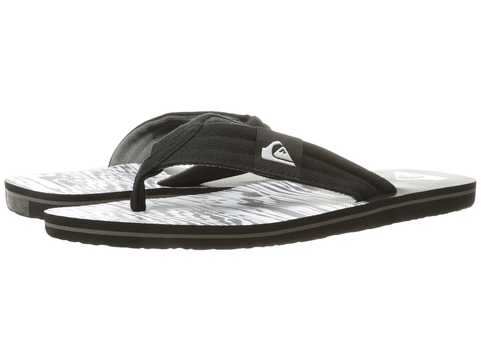 Quiksilver - Molokai Layback (Black/Black/White 2) Men's Sandals