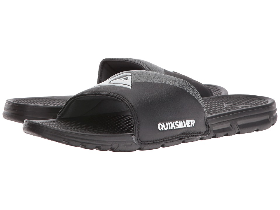 Quiksilver - Shoreline Print (Black/Grey/Black) Men's Sandals