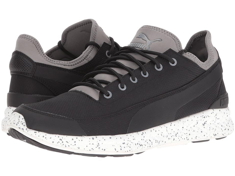 PUMA - Ignite Sock Winter Tech (Puma Black/Steel Gray) Men's Shoes