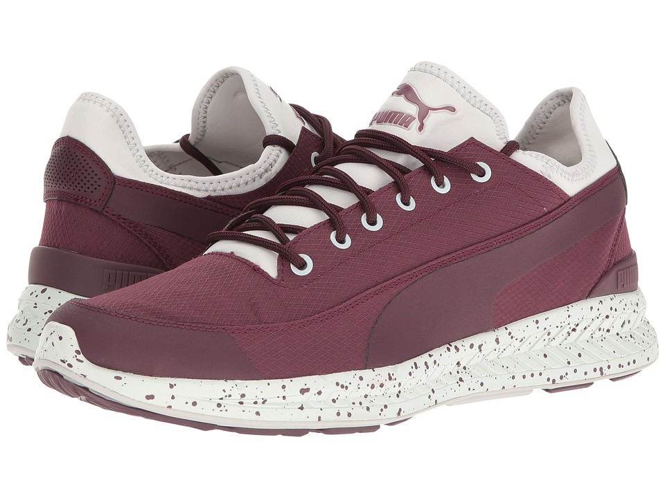 PUMA - Ignite Sock Winter Tech (Wine Tasting/Glacier Gray) Men's Shoes